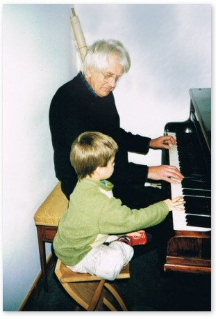 David with one of his grandsons